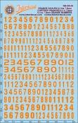 Orangene Zahlen