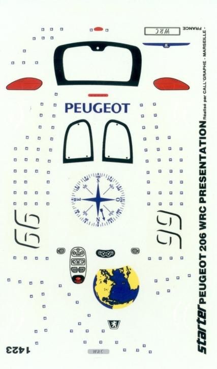 Peugeot 206 WRC Presentation 1/43 JA1423