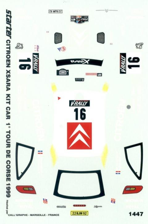 Citroen Xsara Kit Car Tour de Corse 1999 1/43 JA1447