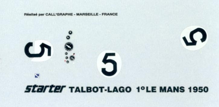 Talbot Lago Le Mans 1950 1/43 JA0786