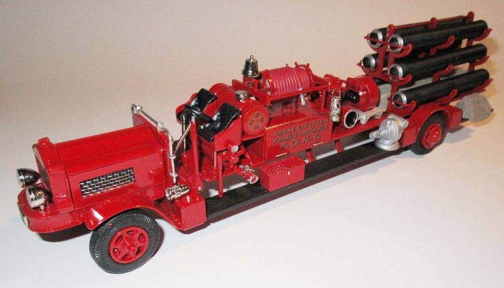 """White Smoke Ejector and Foamite truck """"No.2 F.D.N.Y."""" 1937"""