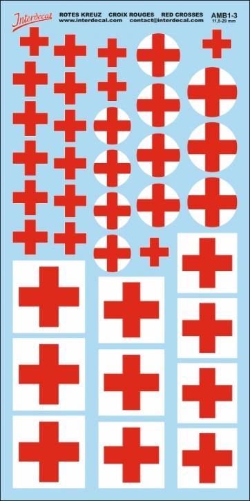Red Cross Decals 3 (11,5-29,0 mm)