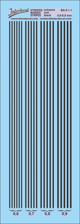 Stripes black 0,6-0,9 mm