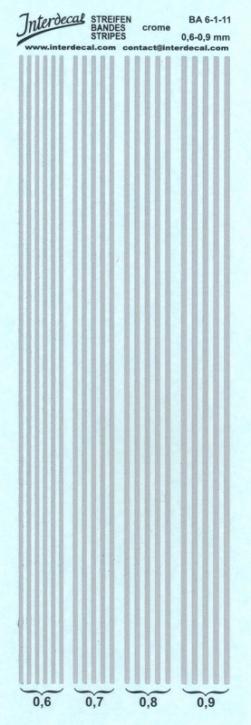 Streifen chrom Effekt 0,6-0,9 mm