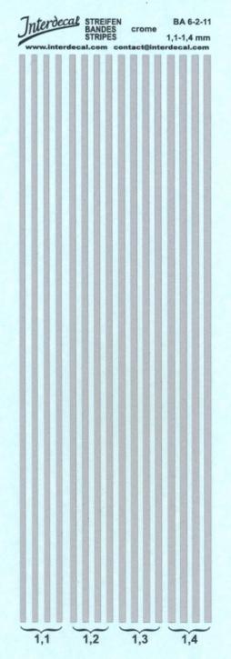 Streifen chrom Effekt 1,1-1,4 mm