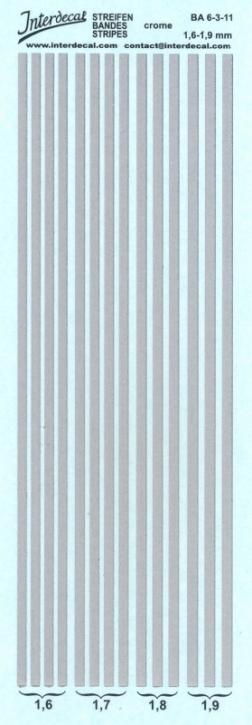 Streifen chrom Effekt 1,6-1,9 mm
