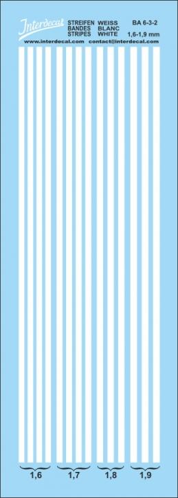 Stripes white 1,6-1,9 mm