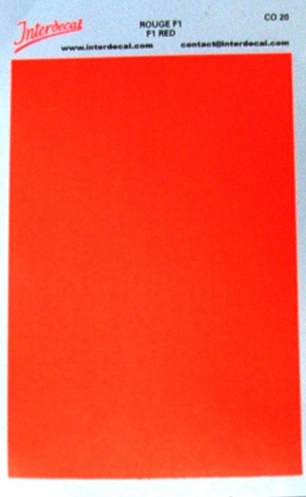 solid color plates (95 x140 mm) F1 red