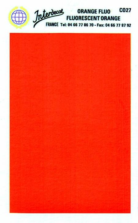 Bogen einfarbig (95 x140 mm) orange Tagesleuchtfarbe