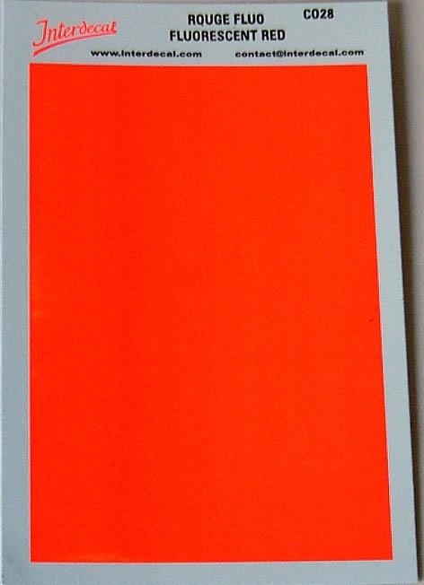 Bogen einfarbig (95 x140 mm) rot Tagesleuchtfarbe
