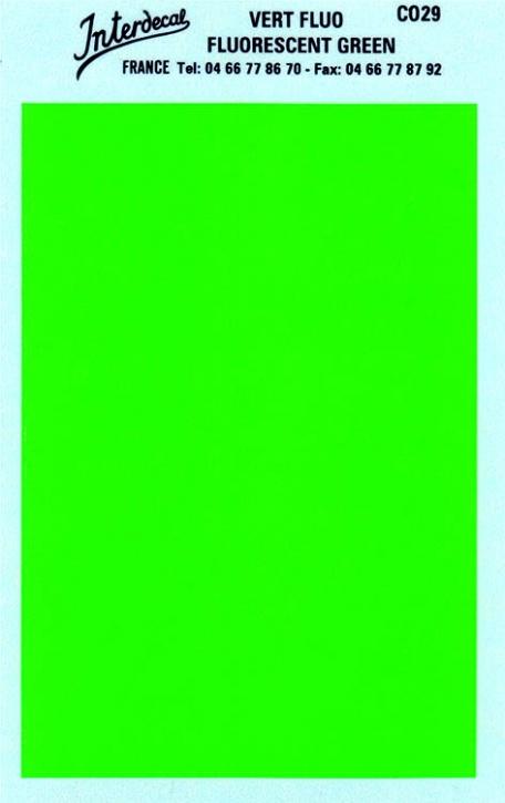 Bogen einfarbig (95 x140 mm) grün Tagesleuchtfarbe