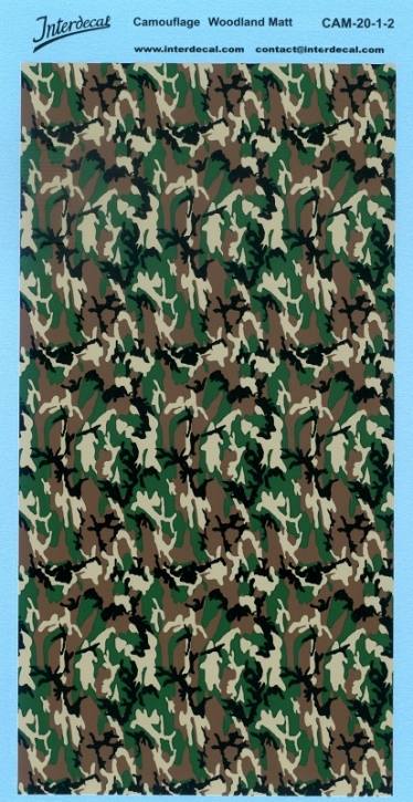 Woodland Camouflage Decal 20-1-2 (195x95 mm)