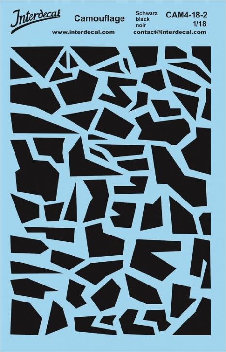 Camouflage 4-2 1/18 (140x90 mm) schwarz