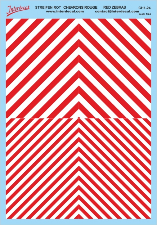 Chevrons 1/24 (185 x 130 mm) red-white