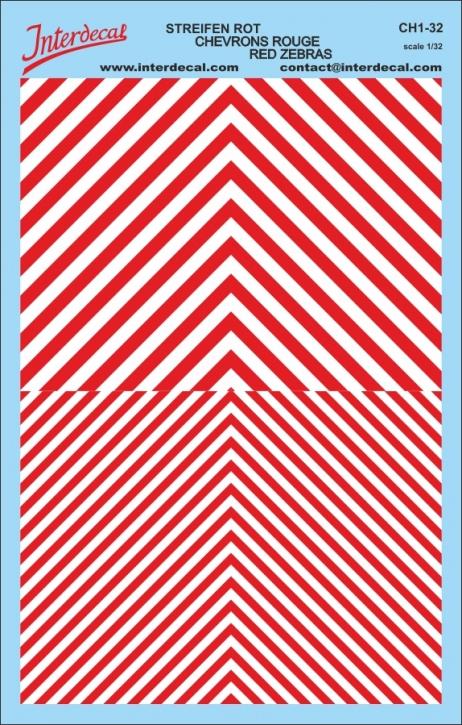 Chevrons 1/32 (185 x 118 mm) red-white