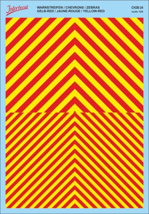 Chevrons 1/24 (185 x 130 mm)  yellow / red