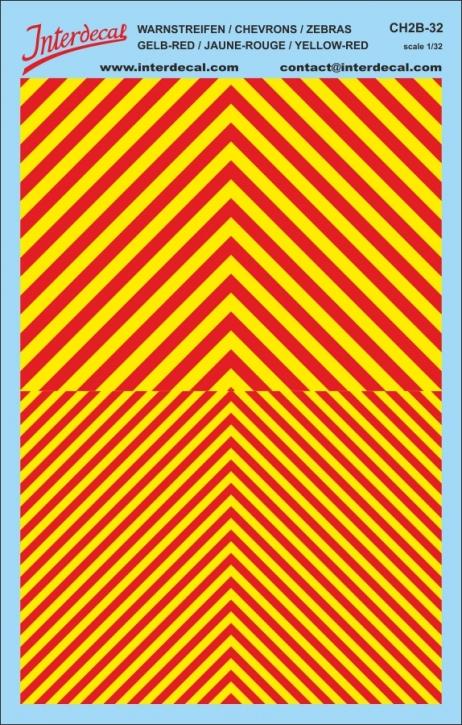 Chevrons 1/32 (185 x 118 mm)  yellow / red