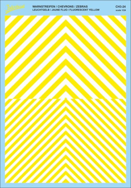 Chevrons 1/24 (185 x 130 mm) yellow fluorescent