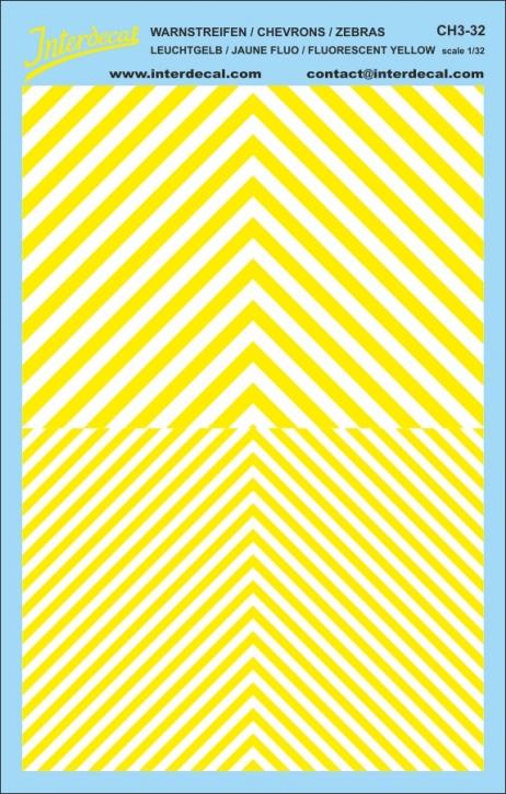 Chevrons 1/32 (185 x 118 mm) yellow fluorescent