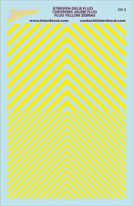 Chevrons 1/43 (90 x140 mm) yellow fluorescent