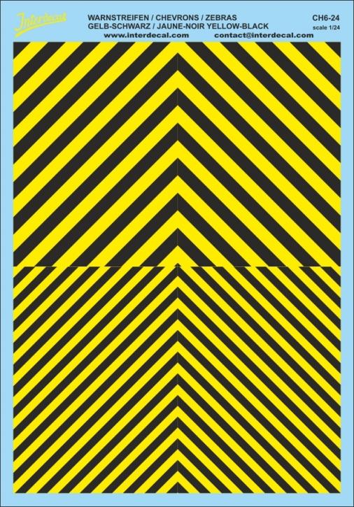 Chevrons 1/24 (185 x 130 mm) yellow/ black