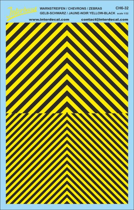 Chevrons 1/32 (185 x 118 mm) yellow/ black