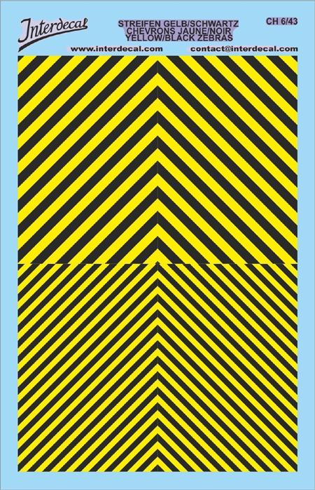 Chevrons 1/43 (90 x140 mm) yellow/ black