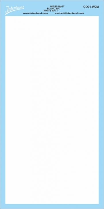 Bogen einfarbig (180 x 90 mm) weiss matt
