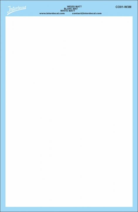 Bogen einfarbig (180 x 120 mm) weiss matt