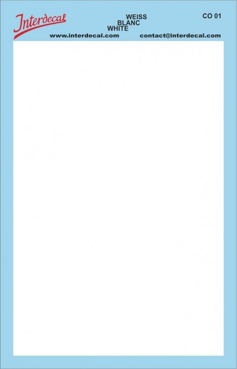 Bogen einfarbig (95 x140 mm) weiss