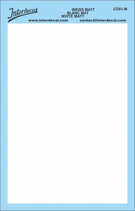 Bogen einfarbig (95 x140 mm) weiss matt