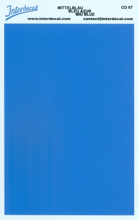 solid color plates (95 x140 mm) midblue