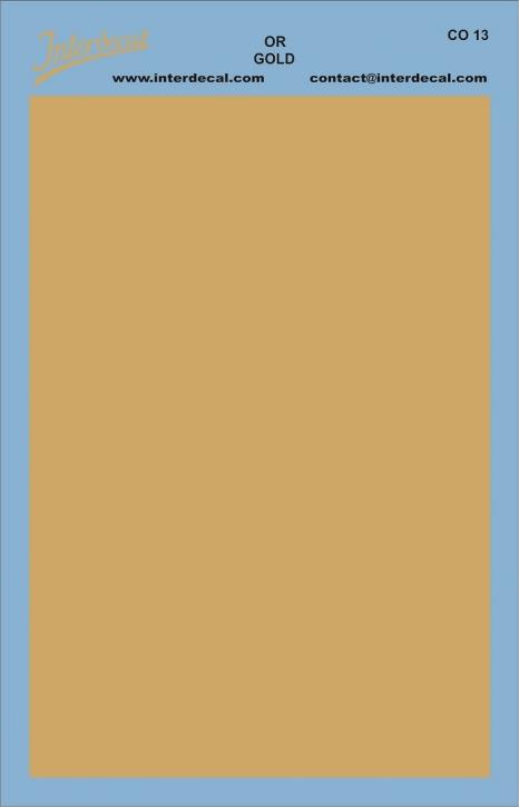 Bogen einfarbig (95 x140 mm) gold