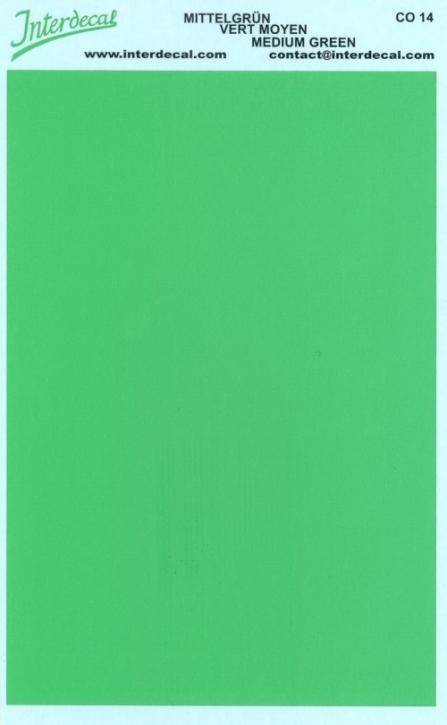 Bogen einfarbig (95 x140 mm) mittelgrün