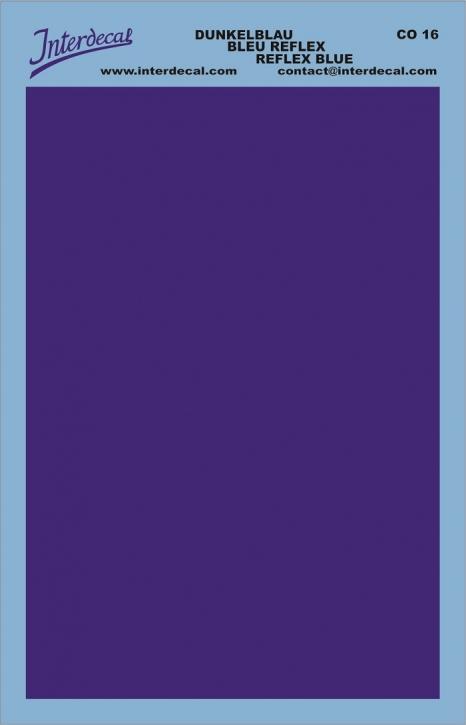 Bogen einfarbig (95 x140 mm) dunkelblau (reflexblau)