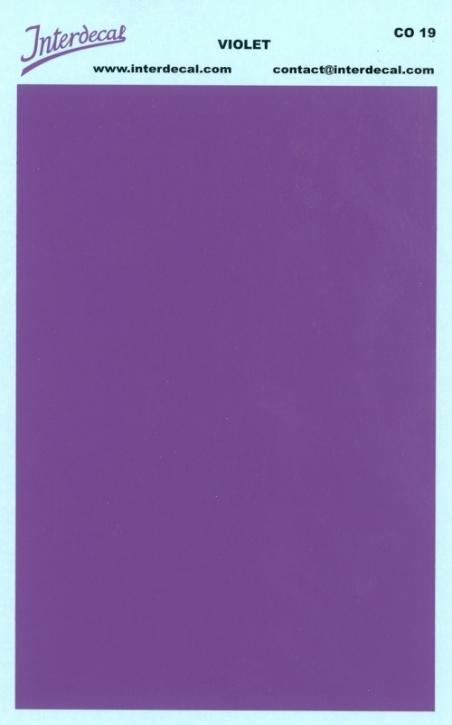 Bogen einfarbig (95 x140 mm) violet