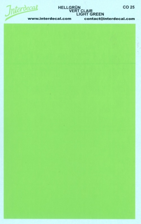 solid color plates (95 x140 mm) light green