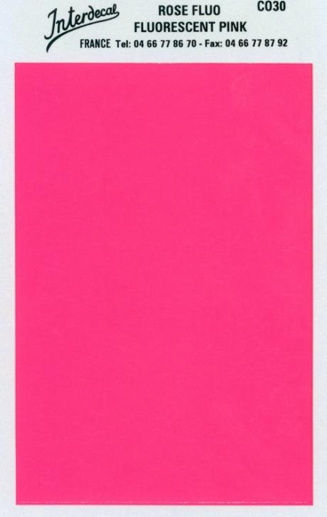 Bogen einfarbig (95 x140 mm) rosa Tagesleuchtfarbe