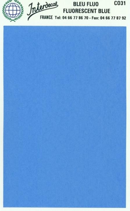 Bogen einfarbig (95 x140 mm) blau Tagesleuchtfarbe