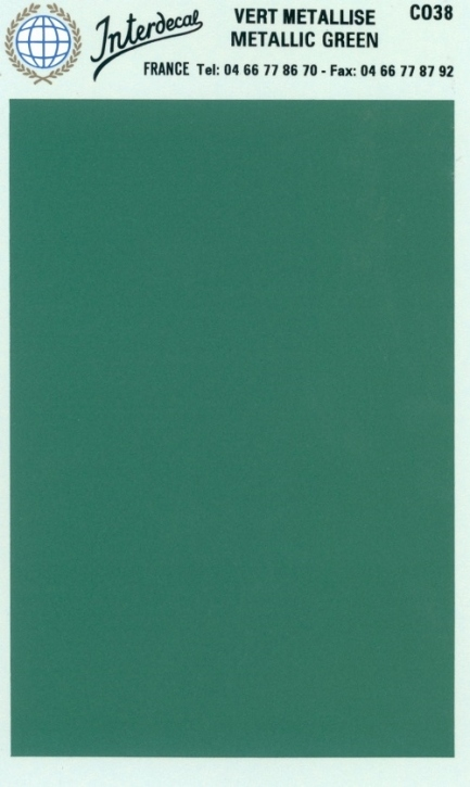 solid color plates (95 x140 mm)  metallic green
