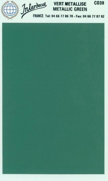 Bogen einfarbig (95 x140 mm)  grün metallic