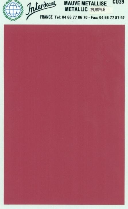Bogen einfarbig (95 x140 mm)  Kardinal rot metallic