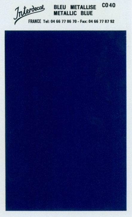 Bogen einfarbig (95 x140 mm)  blau metallic