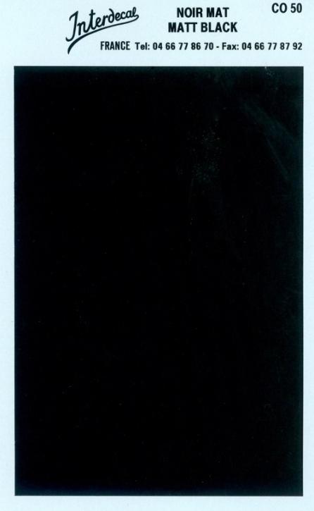 Bogen einfarbig (95 x140 mm) schwarz matt