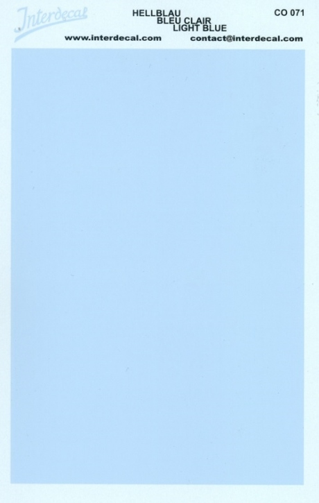 solid color plates (95 x140 mm) light blue