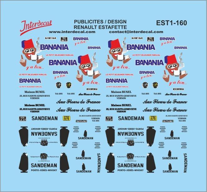 Design / Publicités / liveries Renault Estafette 1/160 (56x52 mm)