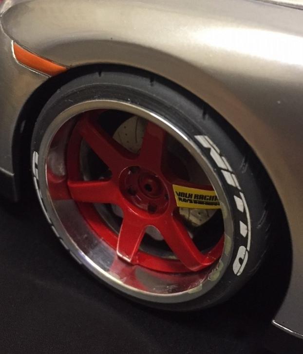 Radset BBS   1/43 ZU0101-0 weiß / 17 mm breit Aludrehteil / 17 mm breit Reifen mit Profil / 15 mm breit Aludrehteil / 15mm breit Reifen mit Profil / Typ B