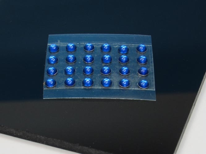 Scheinwerfer blau rund_10 Stück ø= 1,0 mm