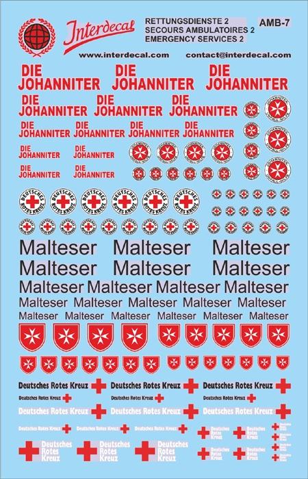 DIE JOHANNITER  EMERGENCY VEHICLES 3 (90x140 mm)