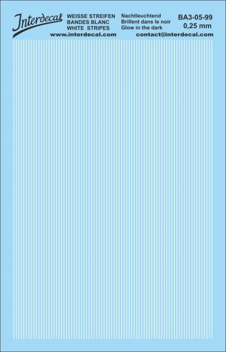 Streifen phosphoreszierend 0,25mm (90x140 mm)